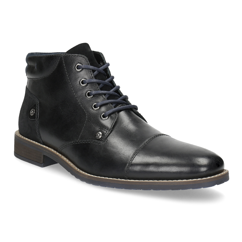 Kotníčková pánská kožená obuv