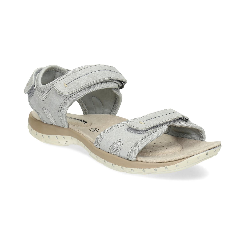 Kožené dámské sandály na suchý zip e85199666b