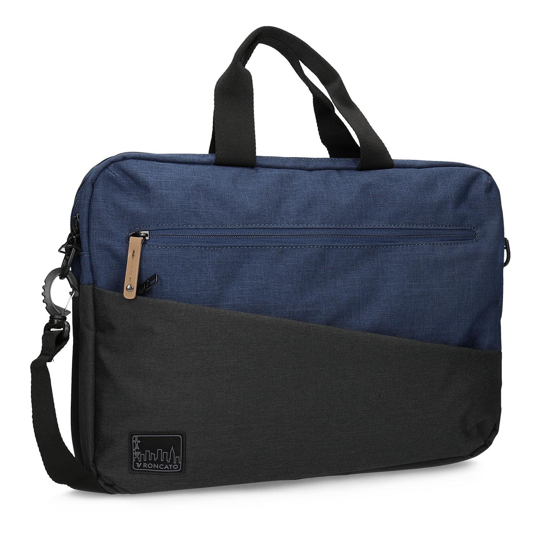 Čierno-modrá taška na notebook