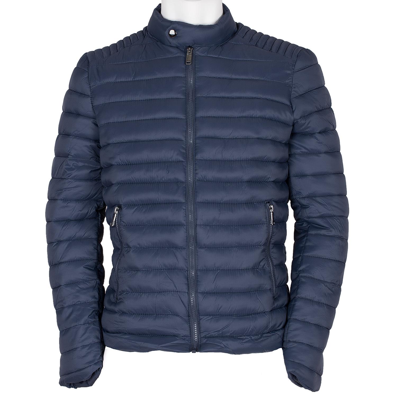 Pánská prošívaná bunda modrá