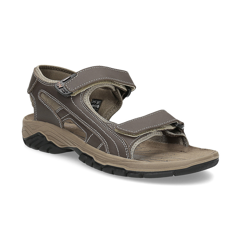 Pánské kožené sandály na suchý zip