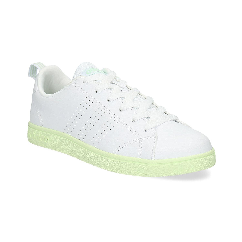 44add09fc8a Dámské bílé tenisky se zelenou podešví