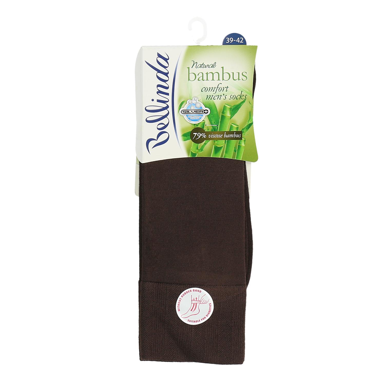Pánské vysoké ponožky hnědé antibakteriální