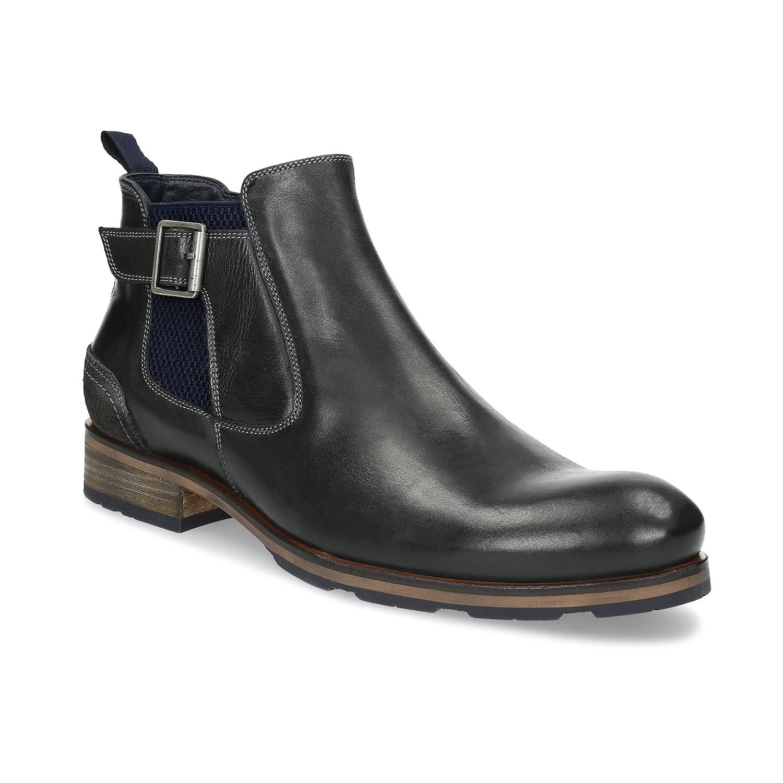 46c37e4d951 Černá kožená Chelsea obuv s přezkou