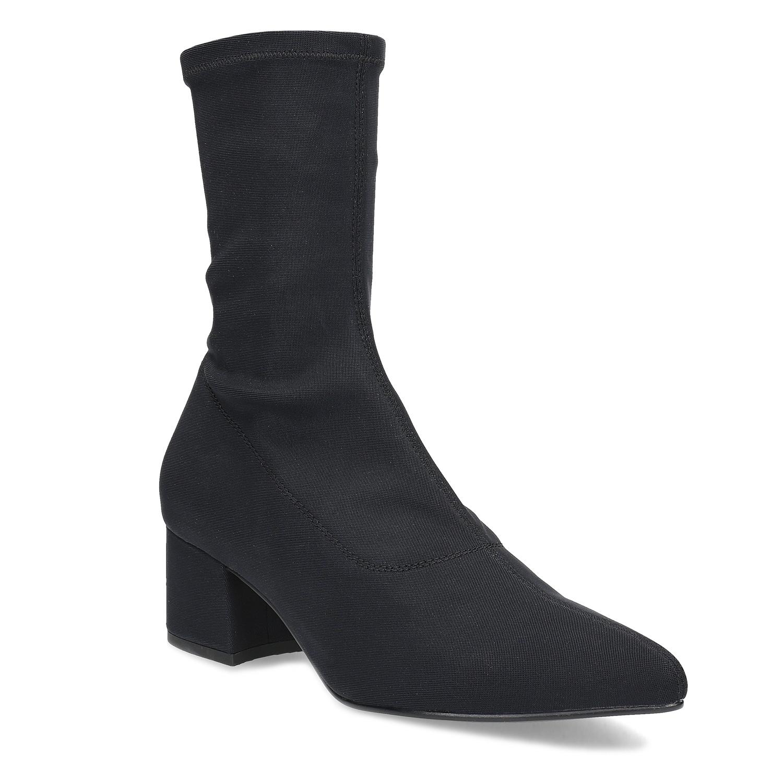 Černé ponožkové kozačky Vagabond