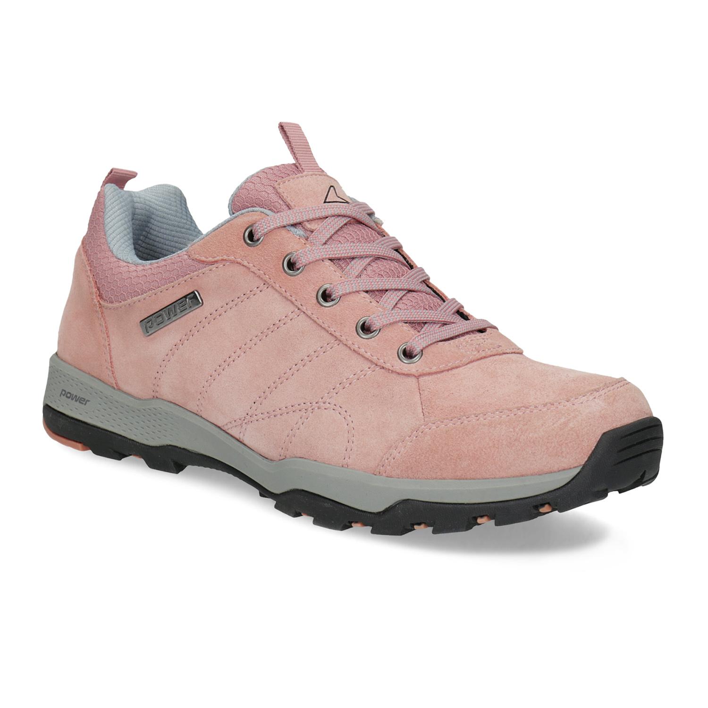 Růžové dámské kožené tenisky
