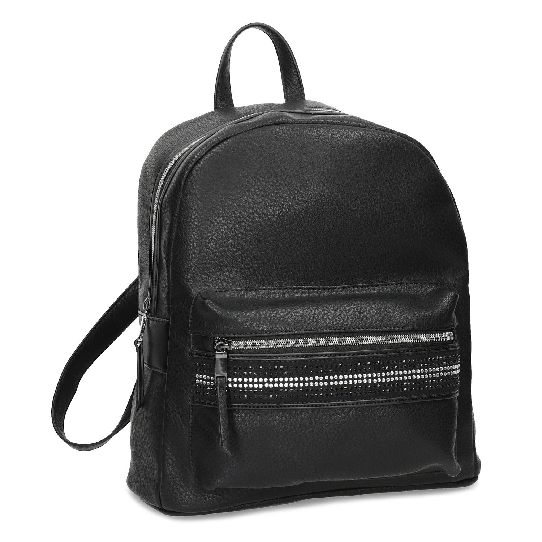 Černý dámský batoh s kamínky