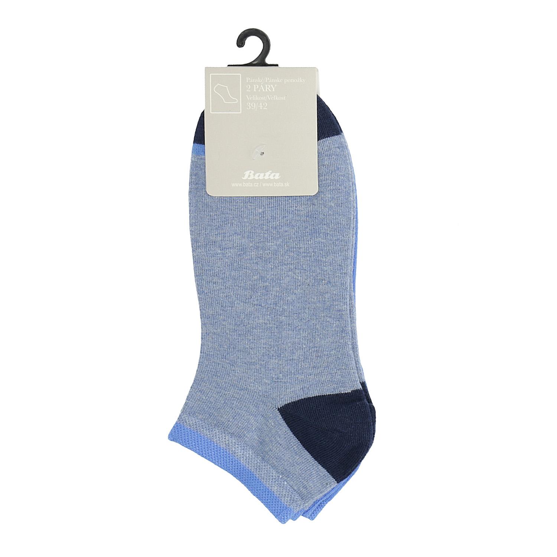 Svetlomodré členkové ponožky