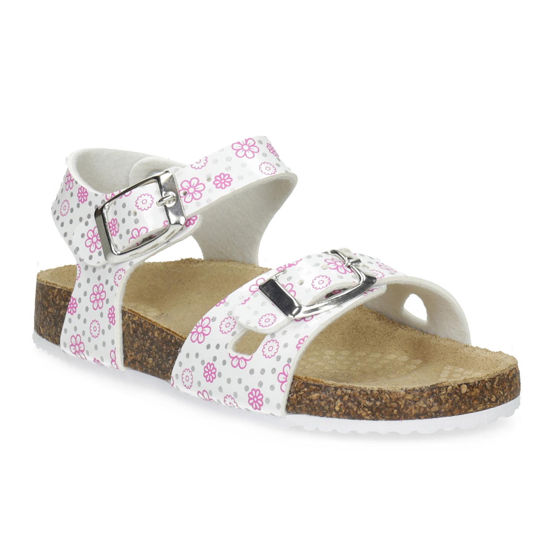 Dívčí sandály s korkovou podešví