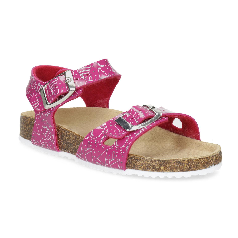 Dívčí korkové sandály růžové Bata.cz