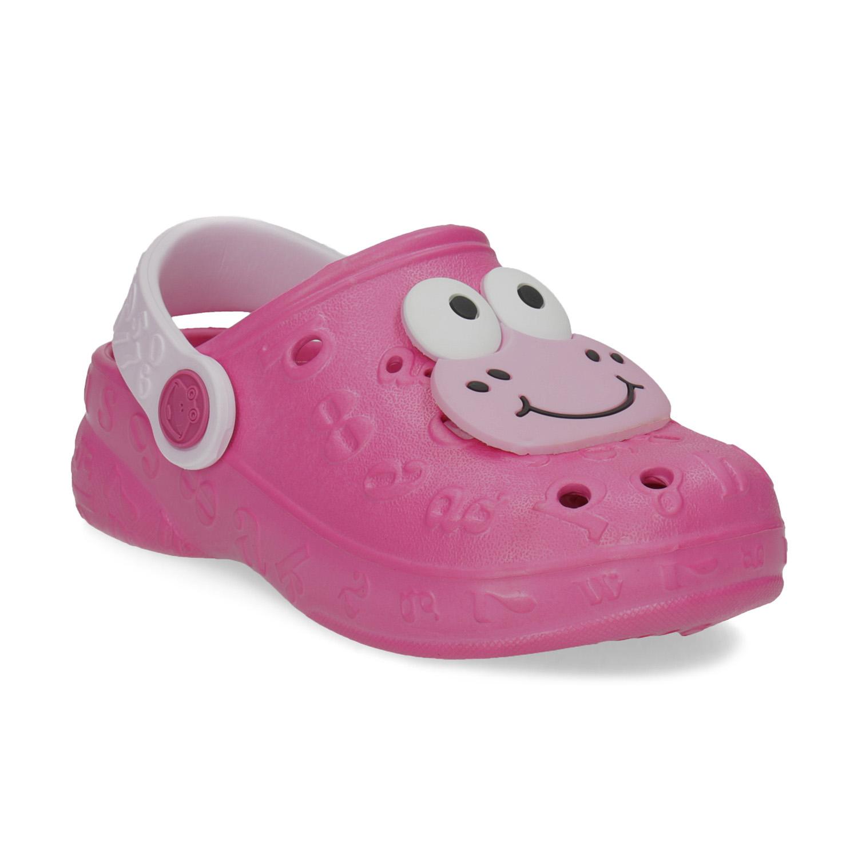 Dívčí sandály se žabičkou růžové