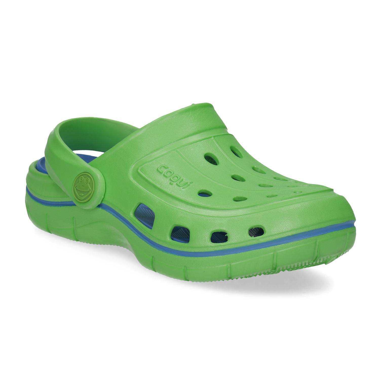 Zelené dětské sandály typu Clogs Bata.cz