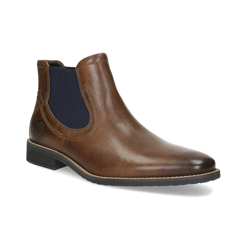 Pánska kožená obuv v štýle Chelsea