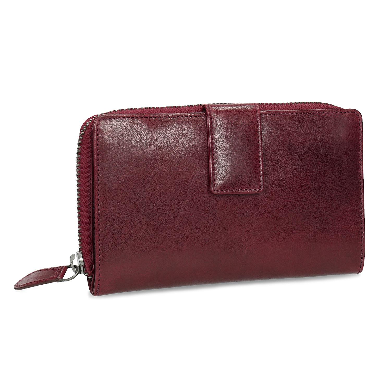 a3ae74e1d67d Kožená dámska červená peňaženka