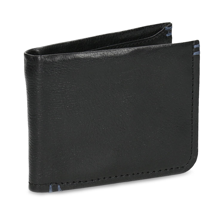 Kožená čiernw pánska peňaženka