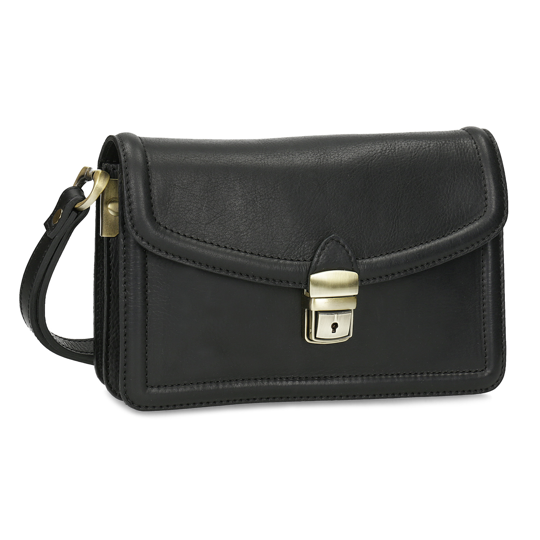 Černá pánská kožená taška do ruky