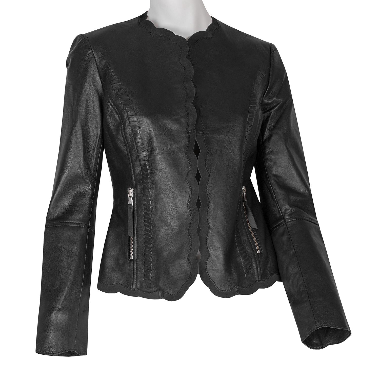 ecf7ec4e7352 Kožené čierne dámske sako