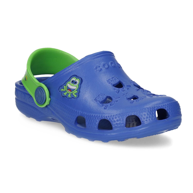 Modré dětské sandály se žabičkou