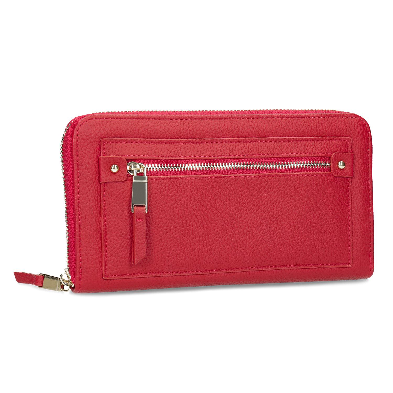 b2b5e379f5 Dámska červená peňaženka so zipsom