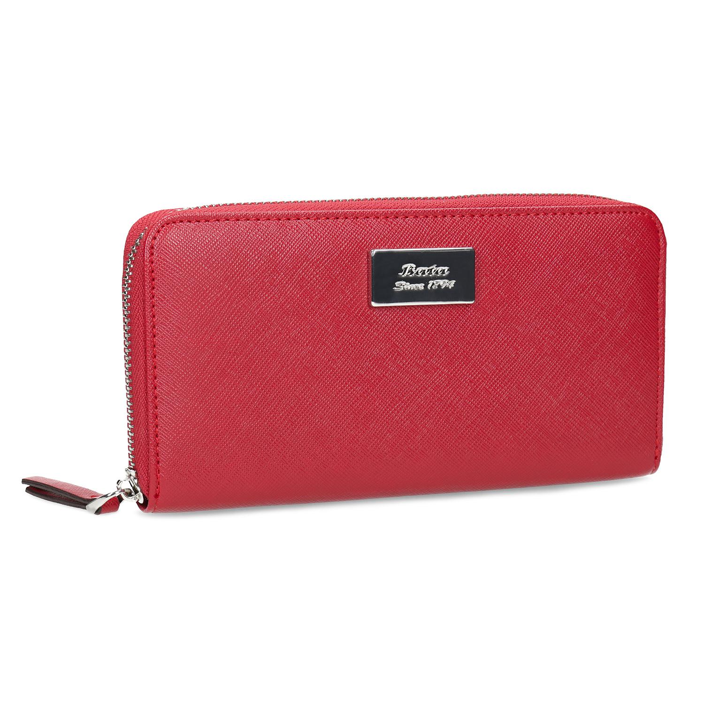 Červená dámska peňaženka na zips