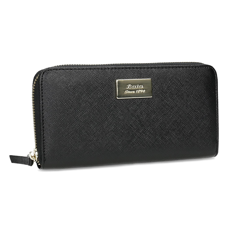 854e939444 Čierna dámska peňaženka na zips