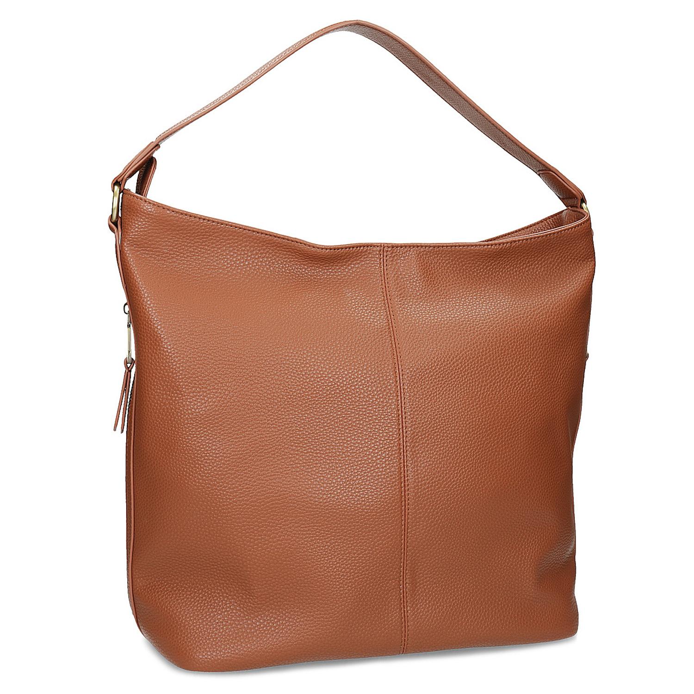 Hnedá Hobo kabelka s prešitím