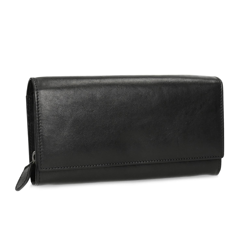 Čierna dámska kožená peňaženka
