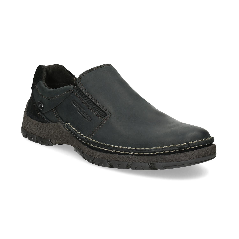 Kožená pánska Slip-on obuv s prešitím