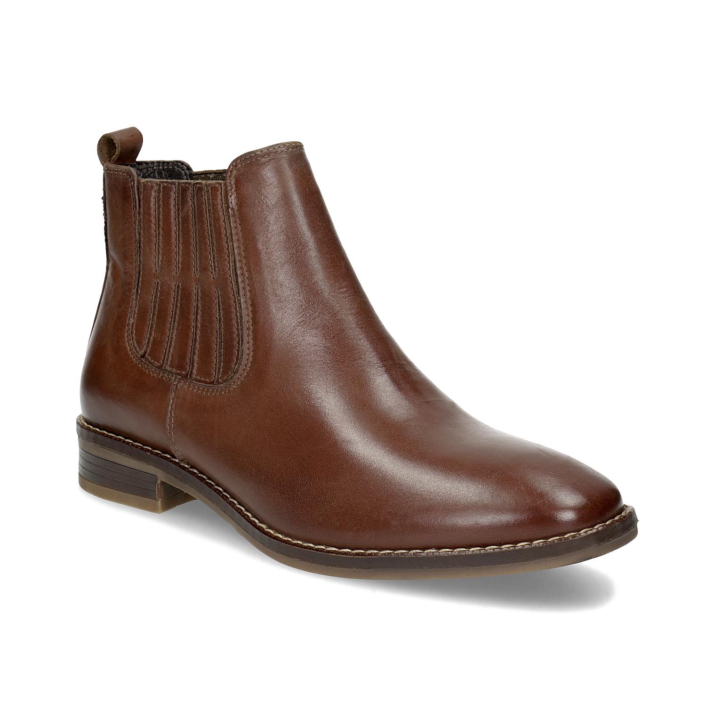 Kožená dámská obuv v Chelsea stylu