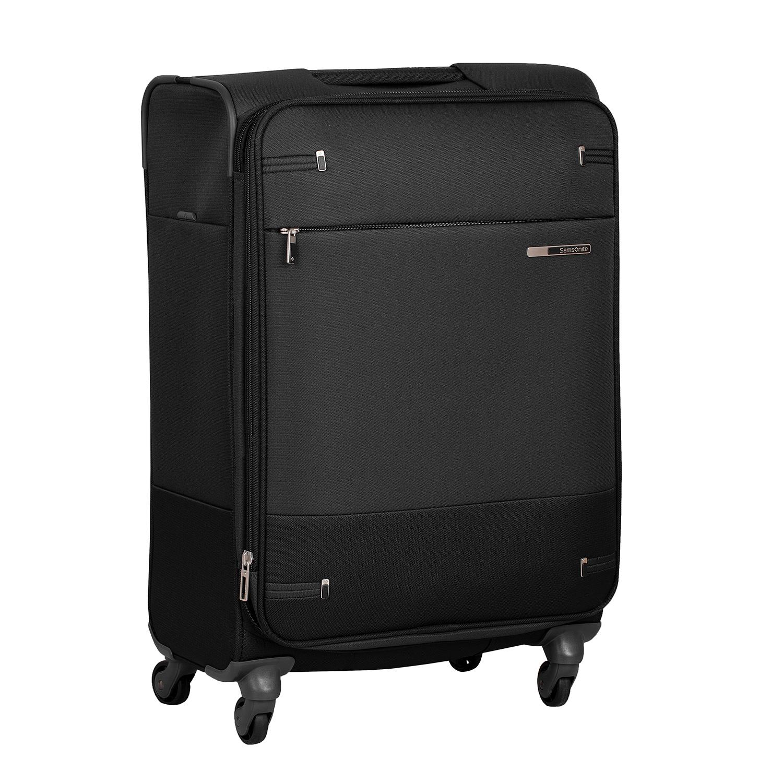 Černý textilní kufr