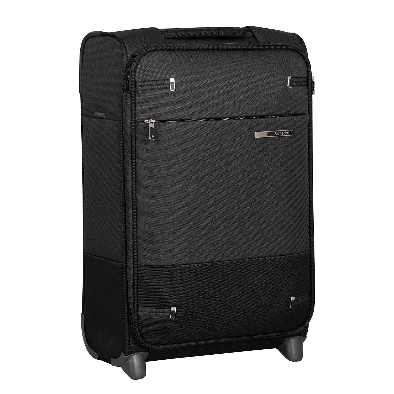 Menší čierny cestovný kufor