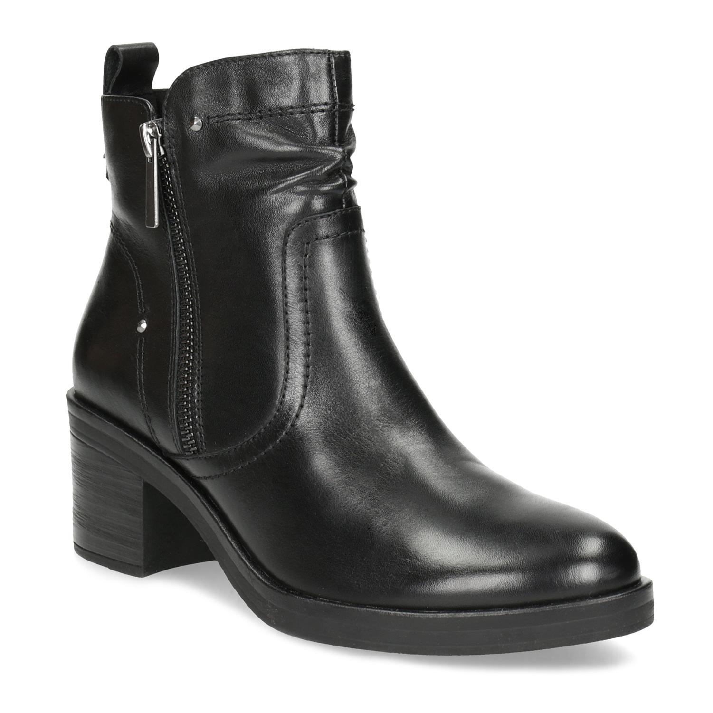 Dámská kotníčková zimní obuv na podpatku