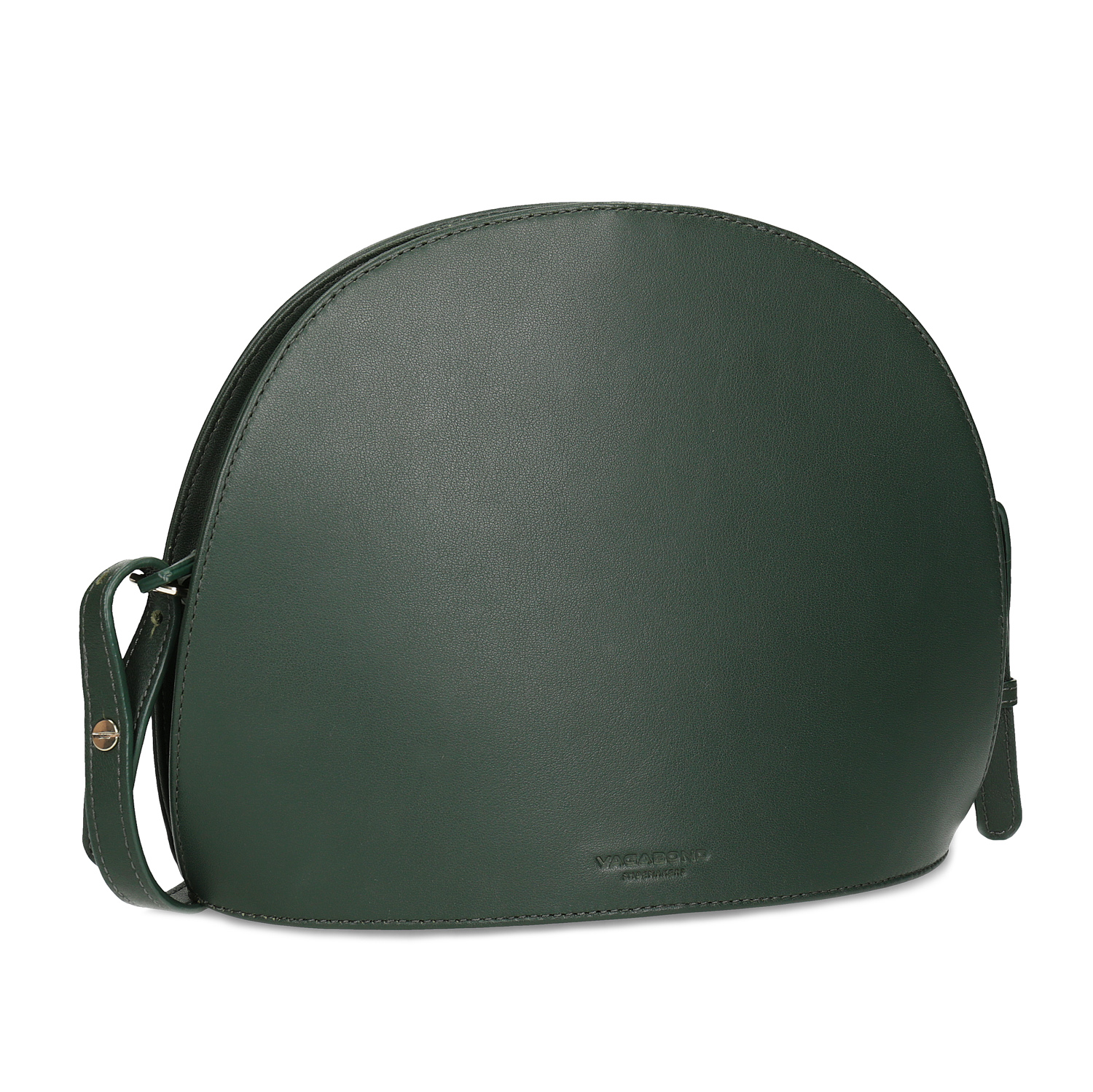 Zelená kožená Crossbody kabelka