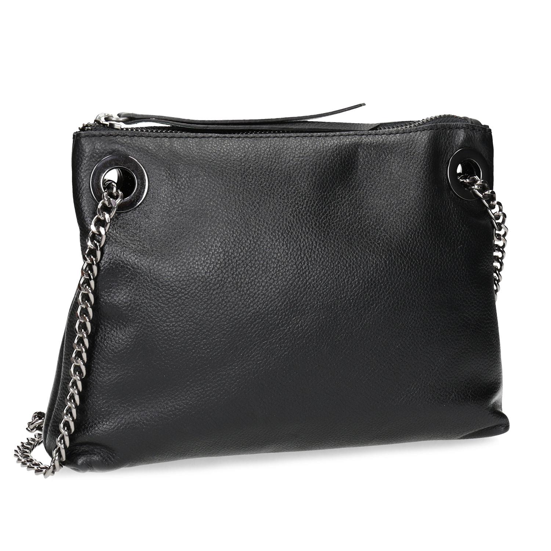 Kožená černá Crossbody kabelka