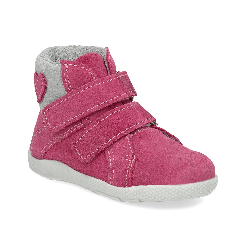 Růžová kotníčková dětská obuv