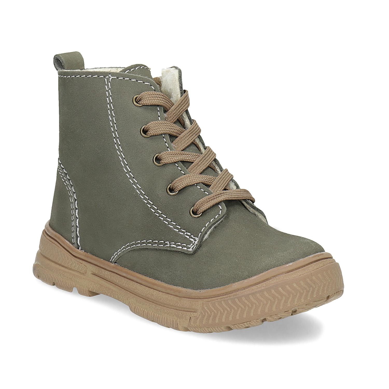 Dětská kožená zimní obuv s prošitím 7749fd6ece
