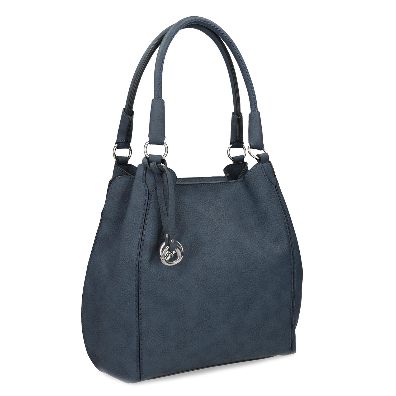 Tmavě modrá dámská kabelka
