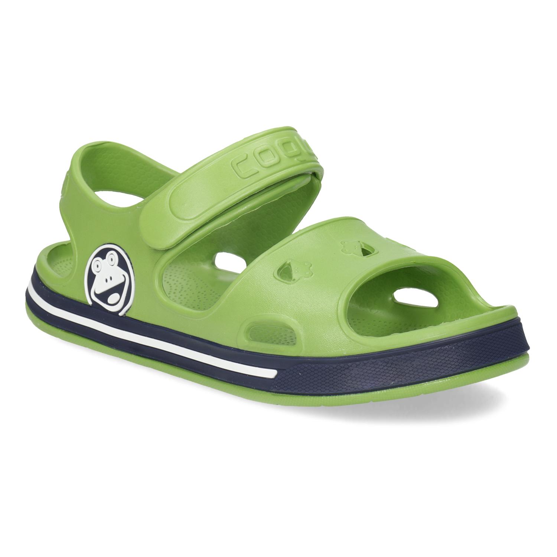Detské zelené sandále chlapčenské
