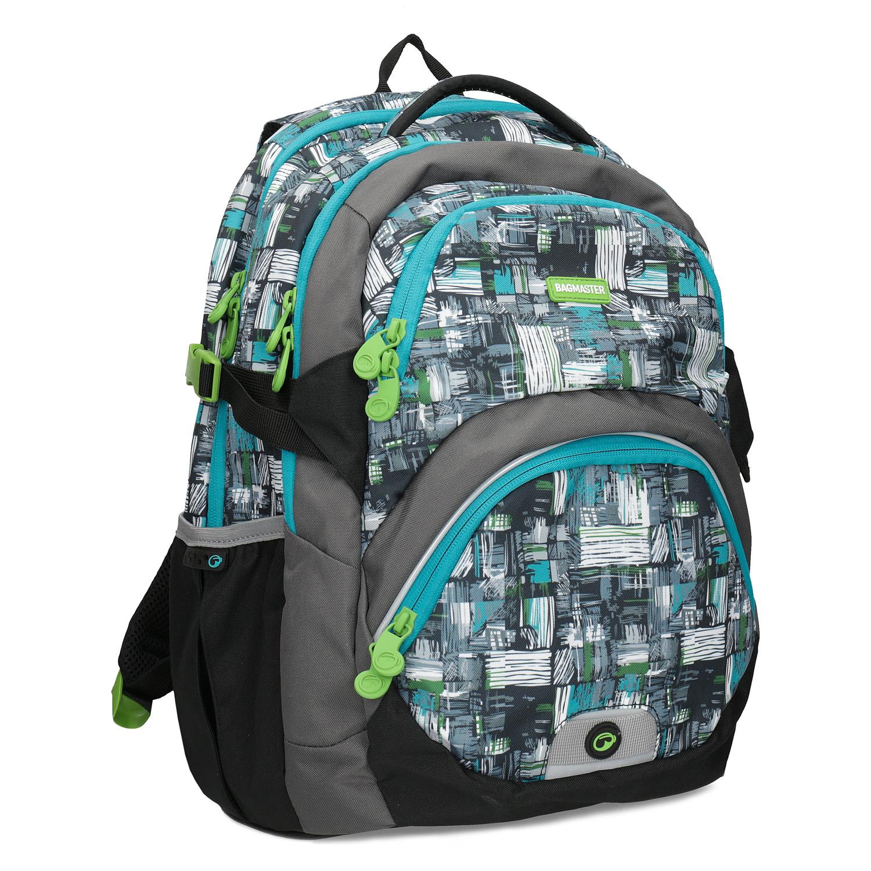 Školní batoh šedo-modrý