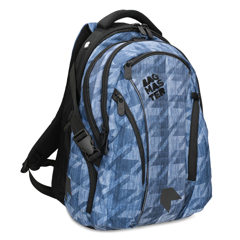 Modrý školský batoh