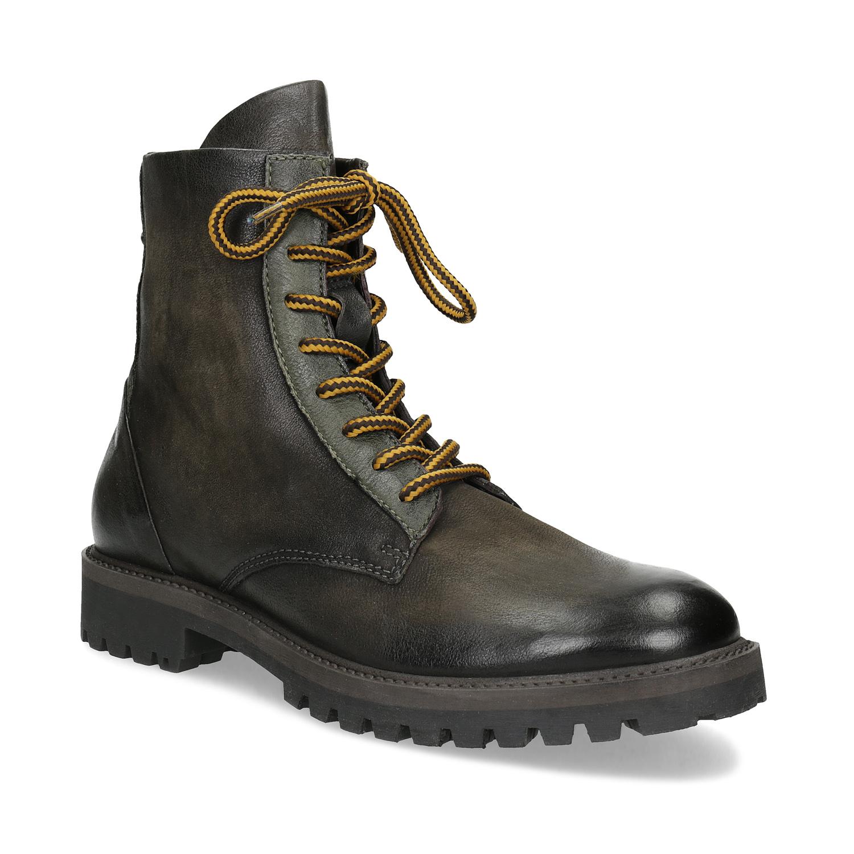 Zimní vysoká kožená kotníčková obuv 18fbe1e760