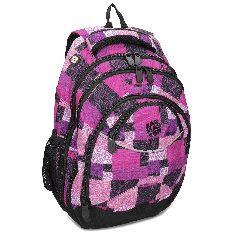 Dívčí školní batoh fialovo-růžový