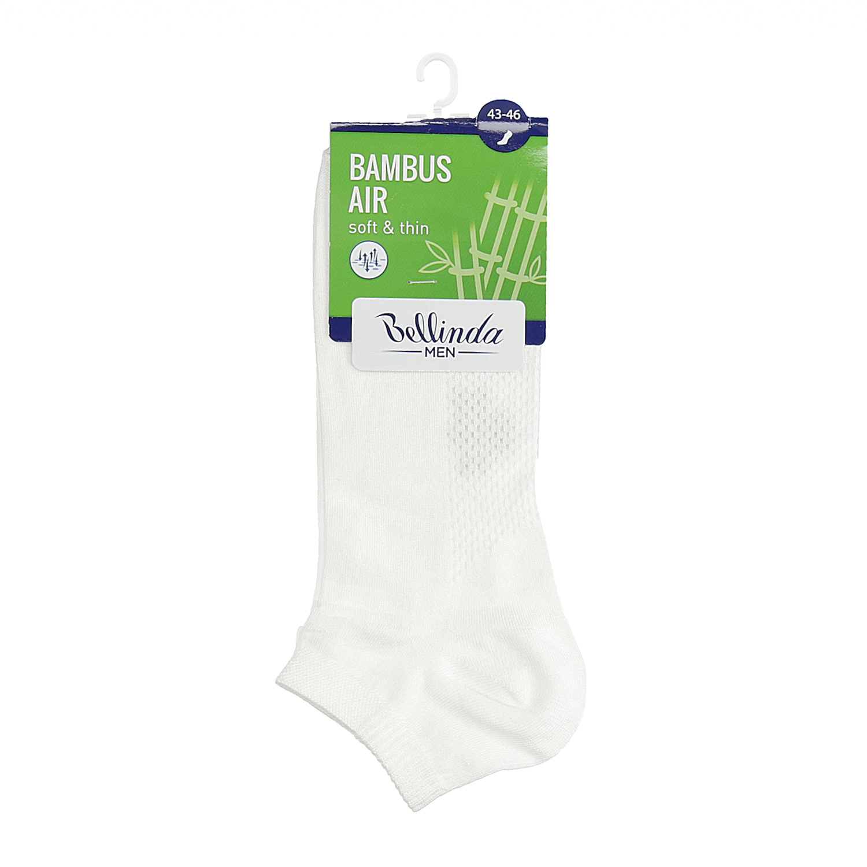 Pánske členkové biele ponožky