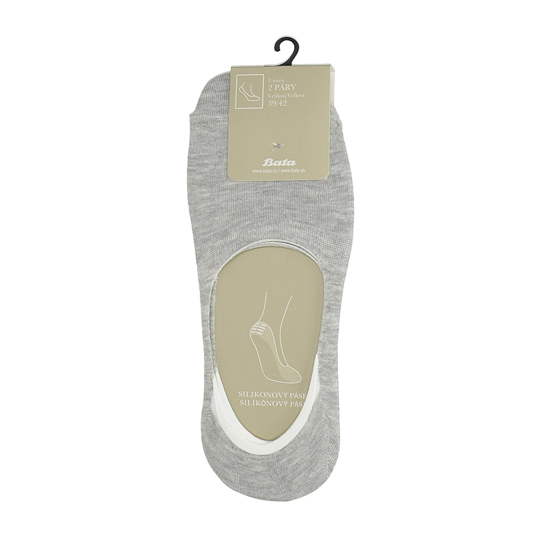 Nízké vykrojené ponožky šedé