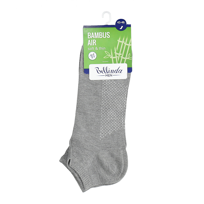 Pánske členkové šedé ponožky