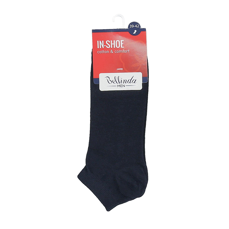 Pánske bavlnené nízke ponožky čierne