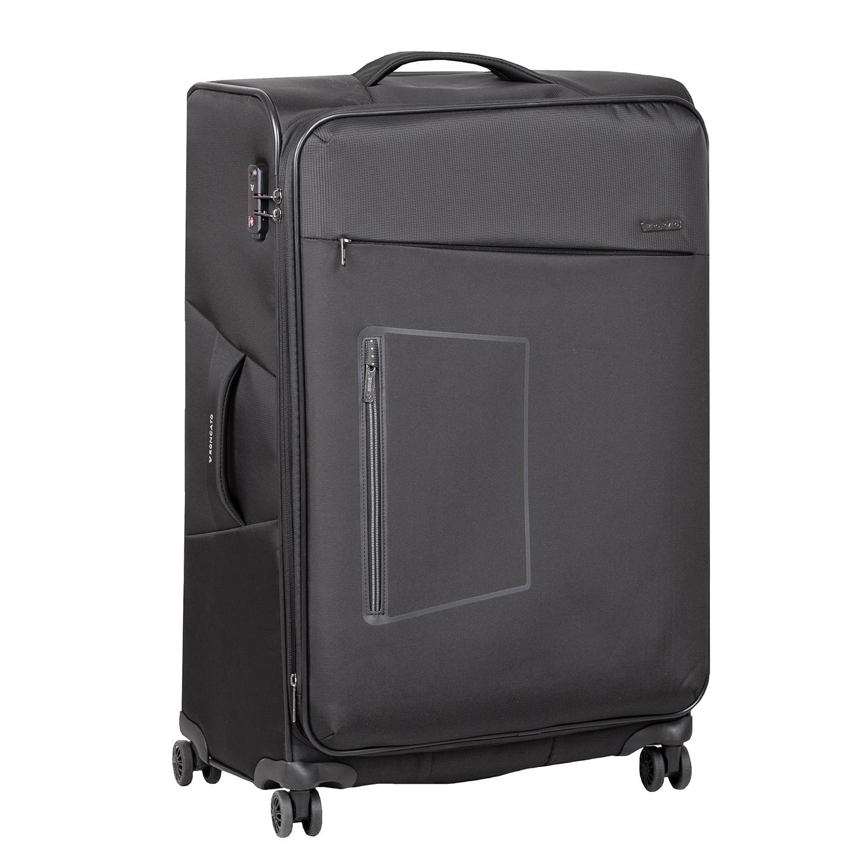 Velký textilní kufr na kolečkách