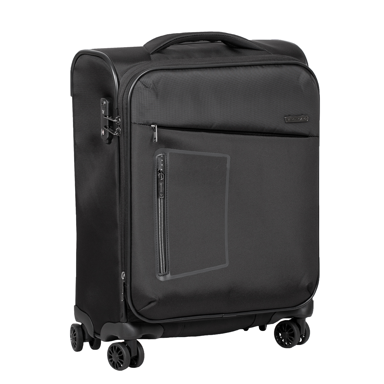 Malý textilný kufor na kolieskach