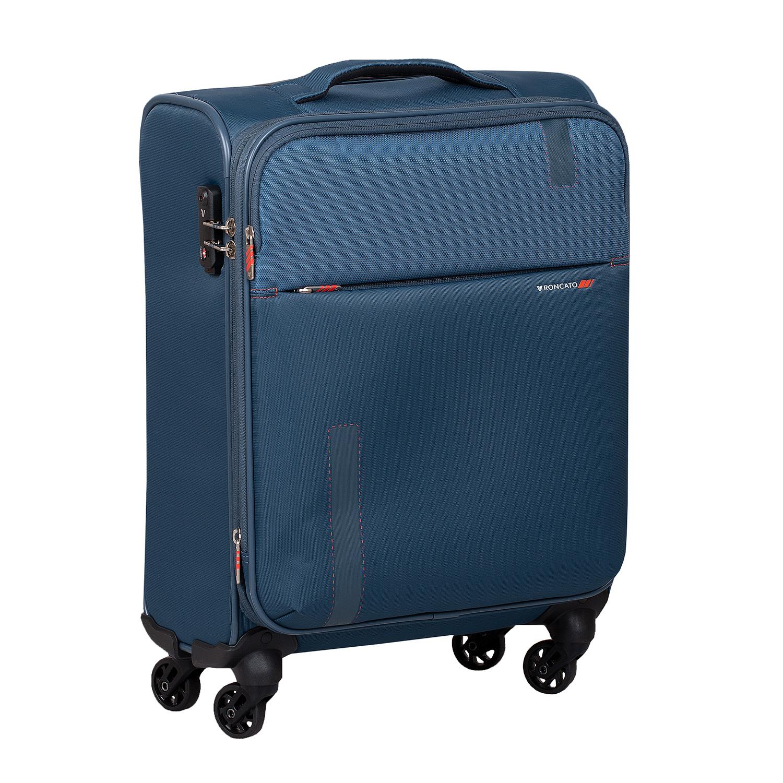 Palubný tyrkysový kufor na kolieskach