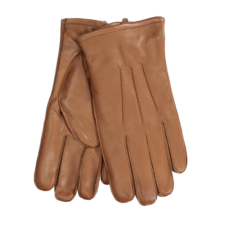 Pánské kožené rukavice světle hnědé